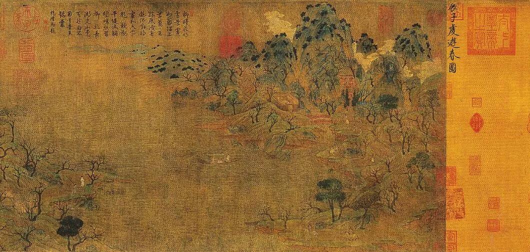 上图_ 《游春图》是隋朝画家展子虔创作的绘画作品