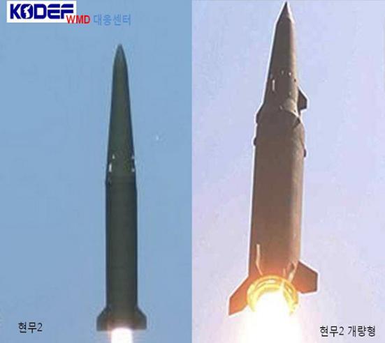 """玄武""""-2B导弹和""""玄武""""-2C导弹对比。"""