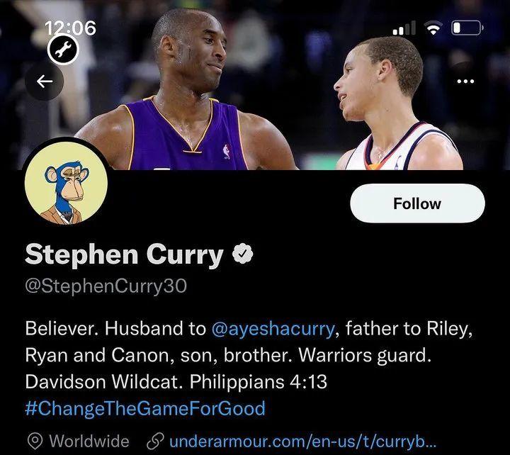 NBA 球星库里花了 18 万美元购买这个头像