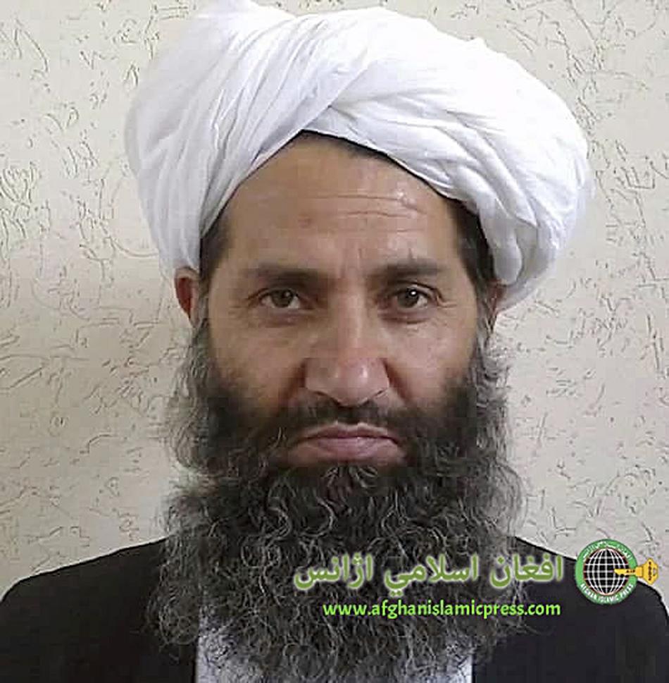 阿富汗伊斯兰新闻社向媒体发布的阿富汗塔利班新最高领导人海巴图拉·阿洪扎达。