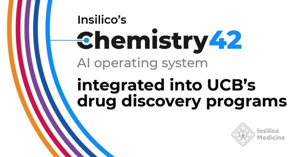 Insilico研发的人工智能系统Chemistry42被UCB药物发现项目采用
