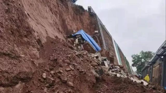 平遥古城墙发生局部坍塌