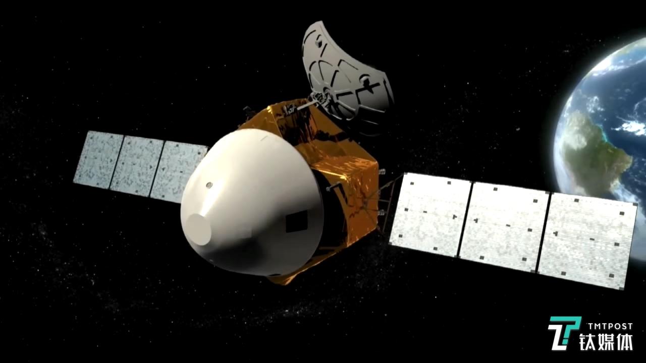 """""""天问一号""""火星任务探测器模拟图(来源:人民网)"""