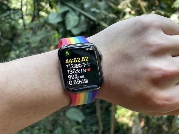 使用Apple Watch记录徒步过程中的心率信息