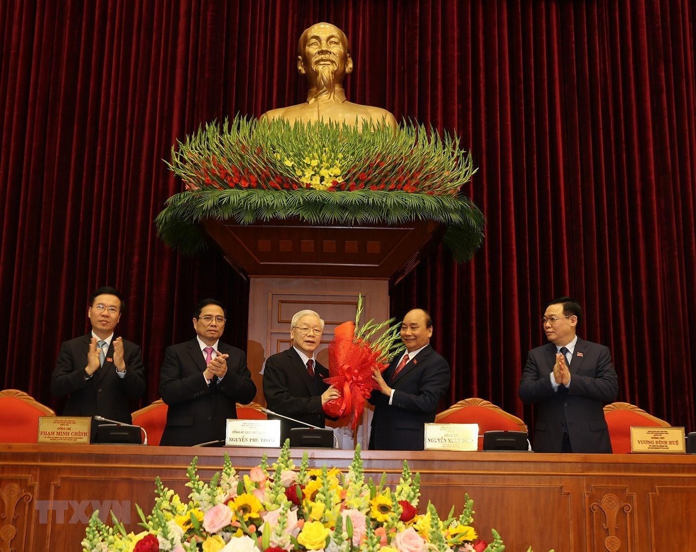 阮富仲第三次当选越共中央总书记