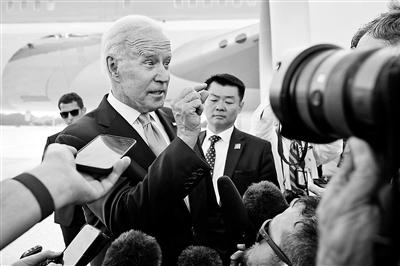 6月16日,美总统拜登结束访问欧洲返回美国 供图/视觉中国