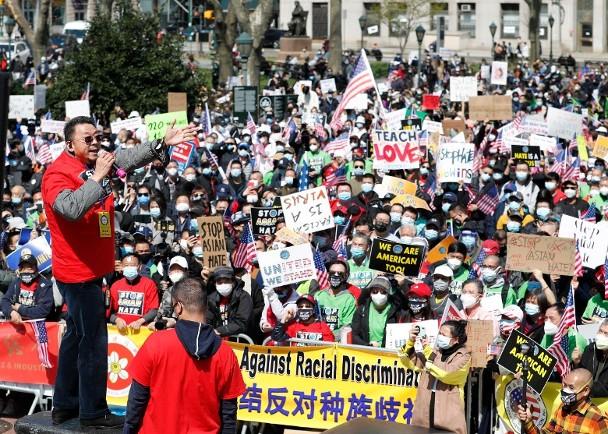 纽约500个团体游行反歧视:亚裔团结起来 我们不是乞丐