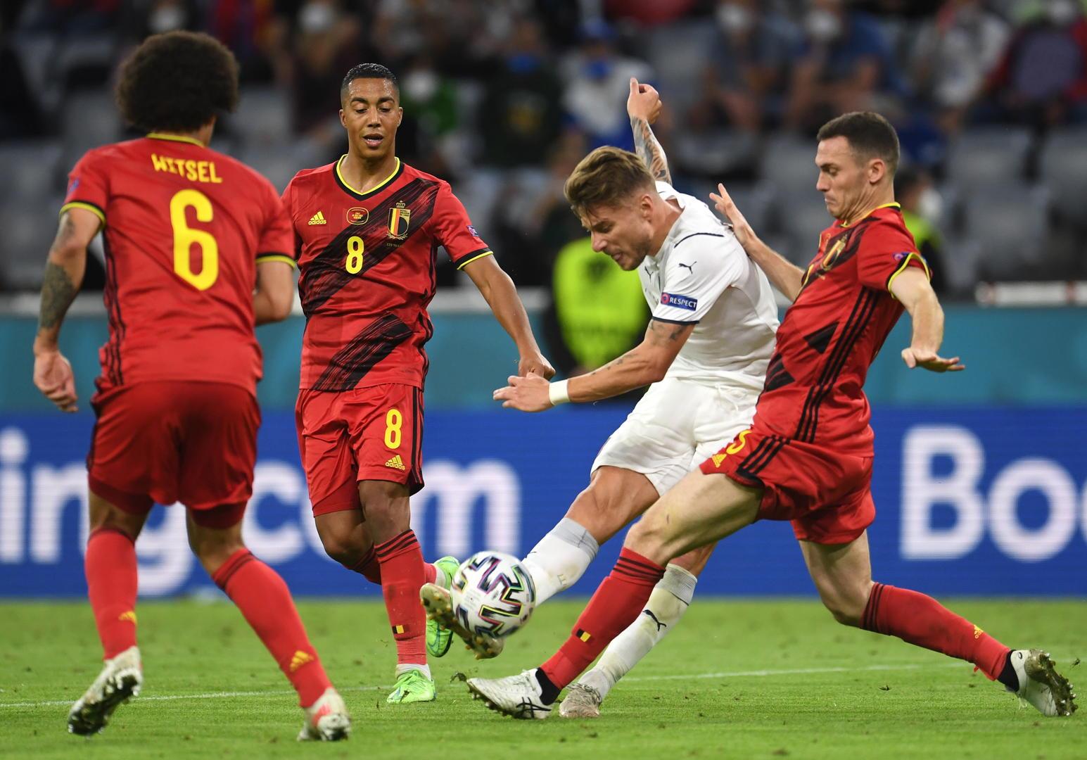 2020欧洲杯1/4决赛,比利时VS意大利 图据IC photo