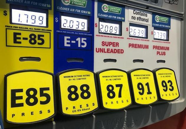 美国多数加油站都提供不同类型的汽油 作者供图