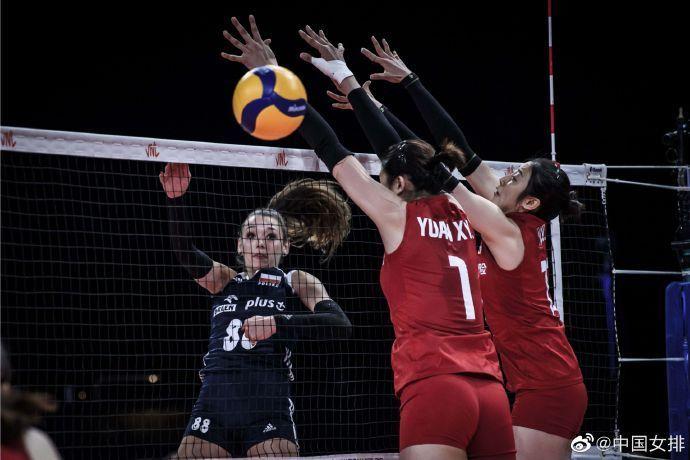 豪取六连胜!中国女排3比0击败波兰女排