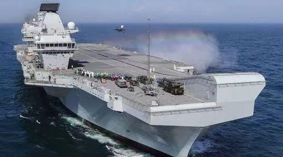 """▲英国海军"""" 伊丽莎白女王""""号航母资料图。图片来源:新华社"""