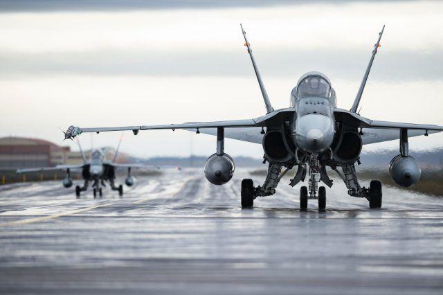 加拿大皇家空军的CF-18战斗机 资料图