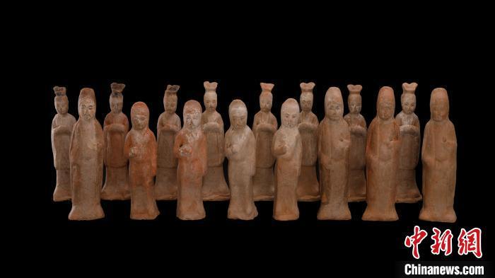 唐康善达墓出土陶俑。 陕西省考古研究院供图