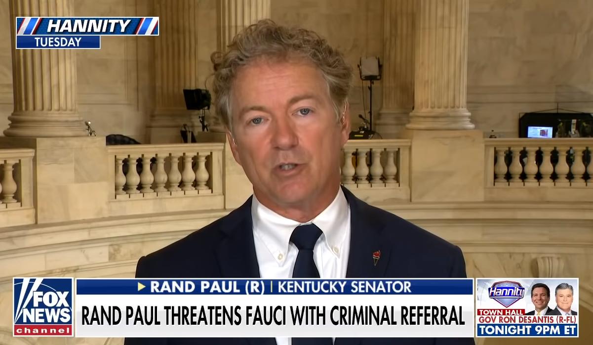 兰德·保罗接受福克斯新闻网采访 视频截图