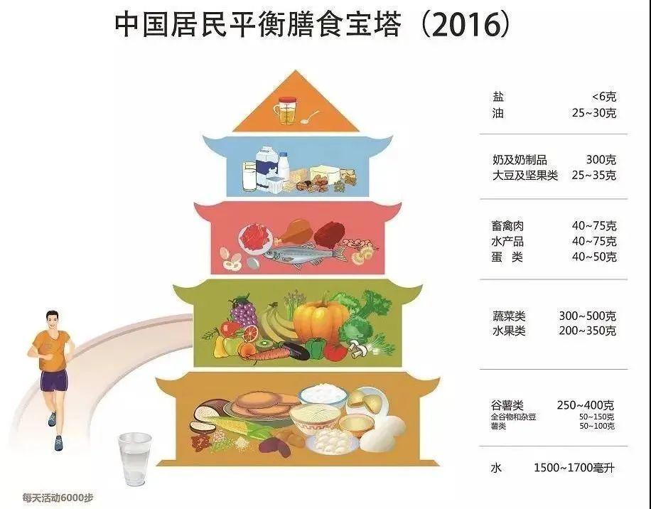 中国居民平衡膳食宝塔 | 图片来自中国营养学会官网