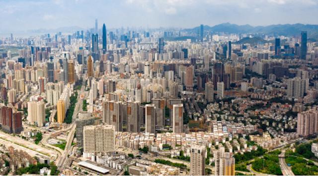 2020年8月26日拍摄的深圳市区(无人机照片) 新华社图