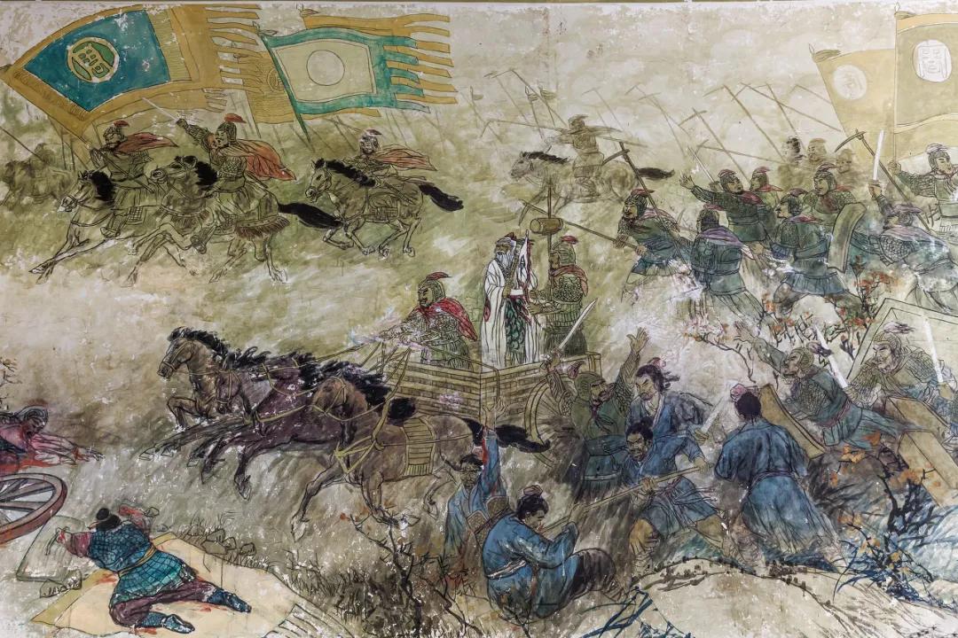 汤阴羑里城景区太公殿中关于牧野大战的绘画 图源   图虫创意