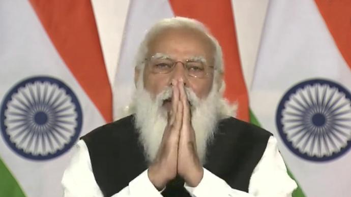 印度总理莫迪。人民视觉 图
