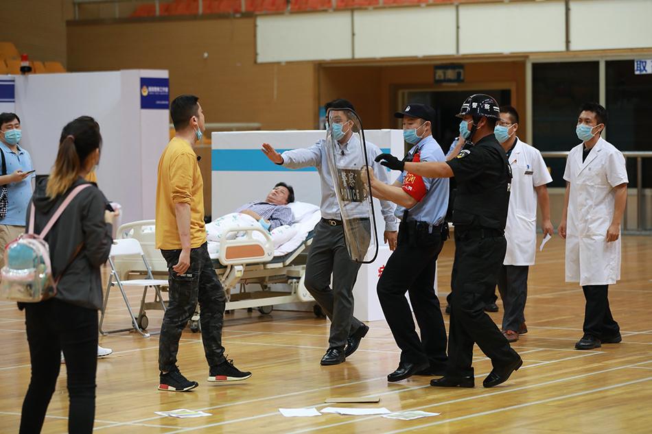 北京医警联动应对涉医案事件大比武现场