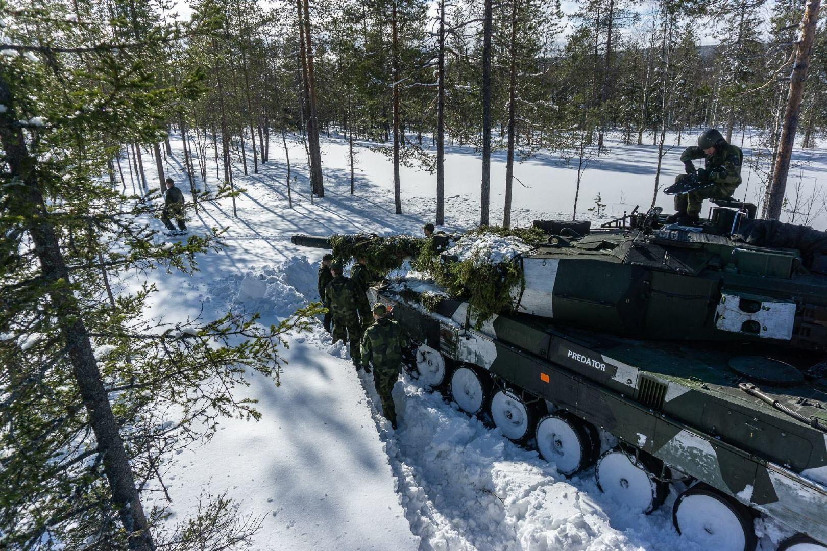 瑞典陆军训练 资料图