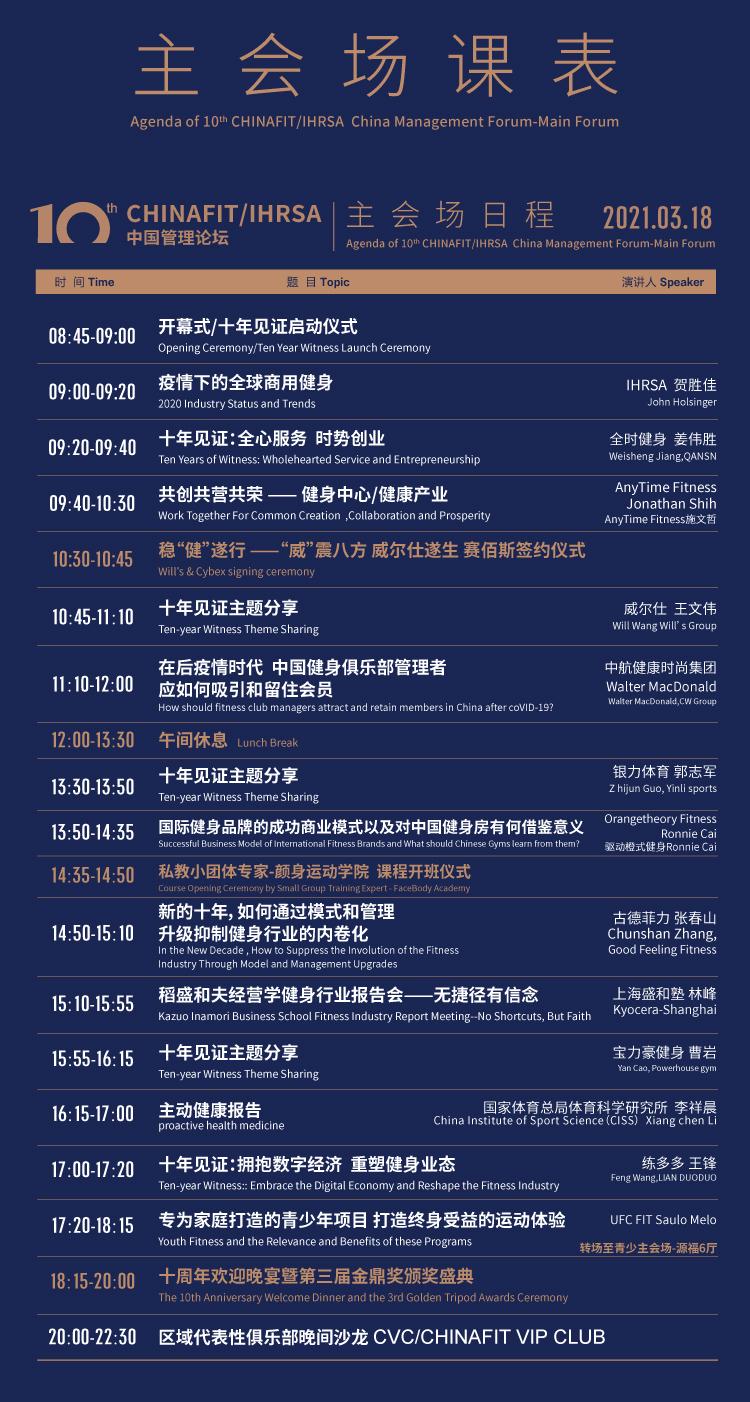健身领袖盛会CHINAFIT/IHRSA中国管理论坛3月18日开幕在即