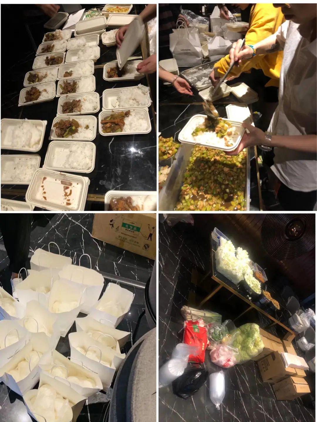 刘轲和朋友们为救援人员准备的饭菜 / 受访者供图