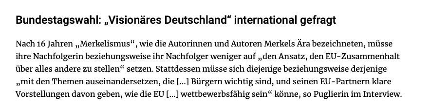 """△ 法兰克福评论报:国际社会需要一个""""富有远见的德国"""""""