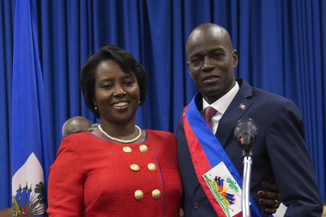 资料图:海地总统莫伊兹和夫人。IC photo