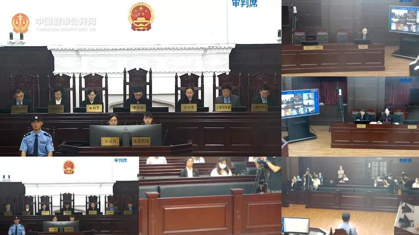 飞乐音响庭审现场,图源中国庭审公开网