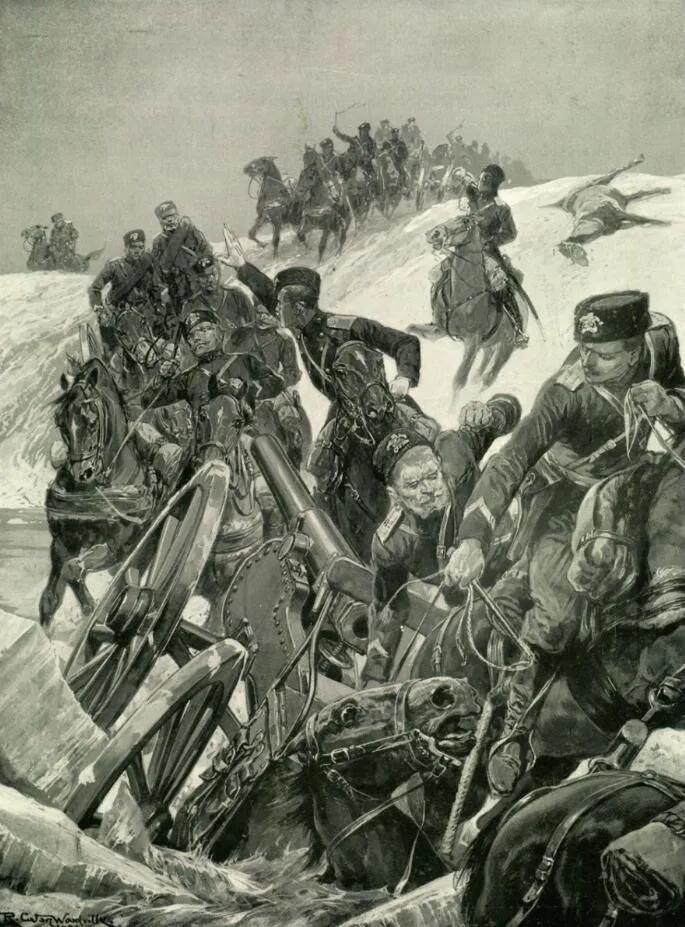 上图_ 争夺辽东半岛的日俄战争中的俄军