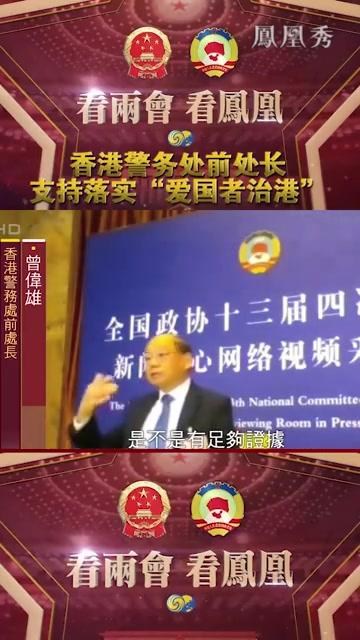 """香港警务处前处长支持落实""""爱国者治港"""""""