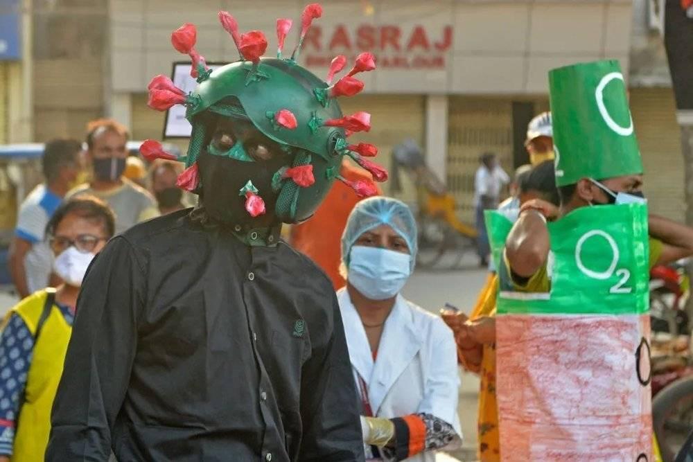 疫情中印度地区的游行