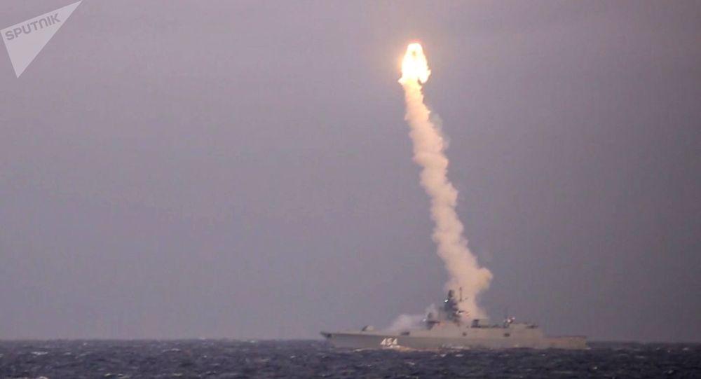 """俄军战舰试射""""锆石""""高超声速导弹 资料图"""