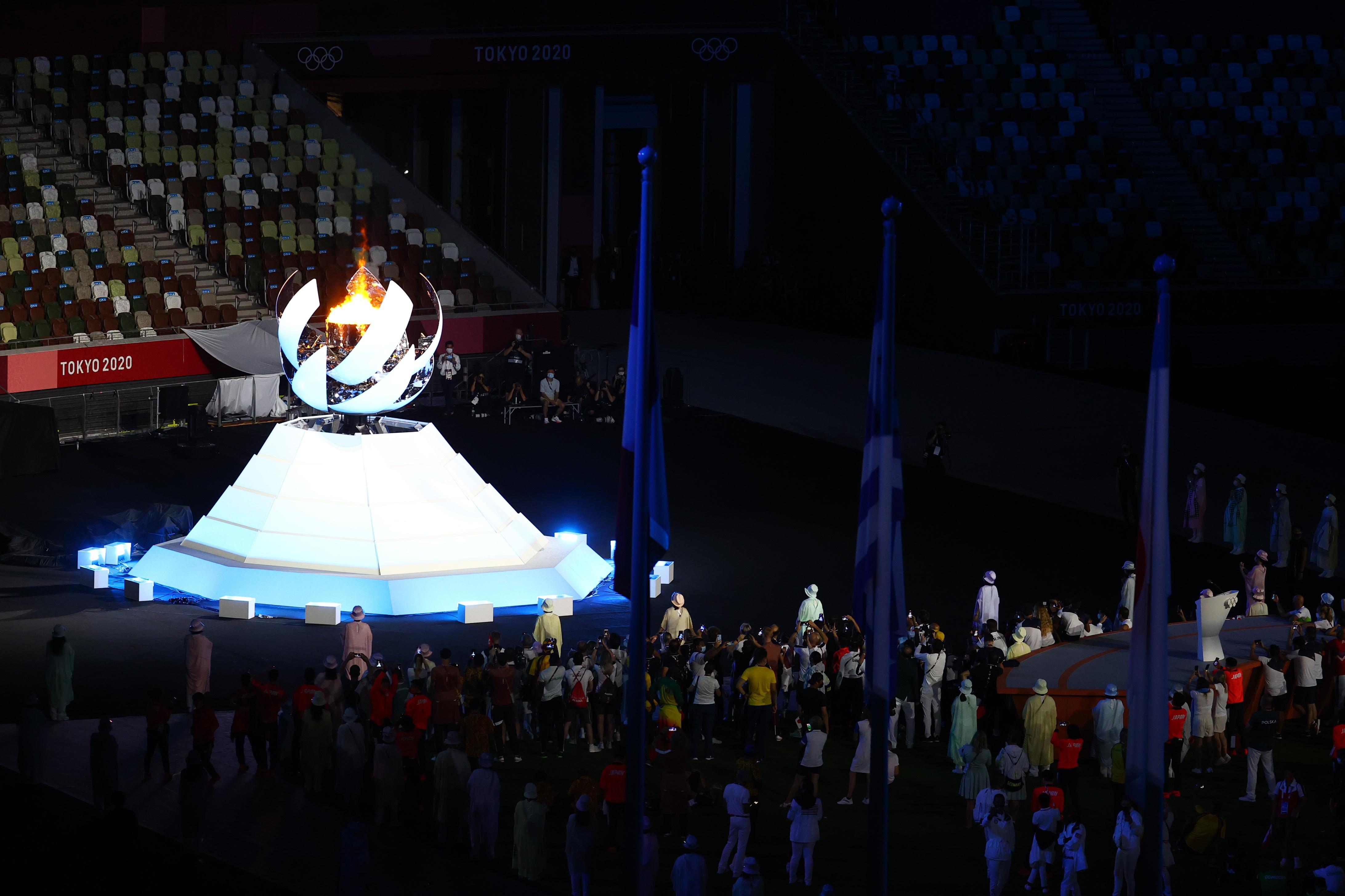 当地时间2021年8月8日,日本东京,2020东京奥运会闭幕式,随着奥运圣火熄灭,2020东京奥运会正式落幕。 图源:IC photo
