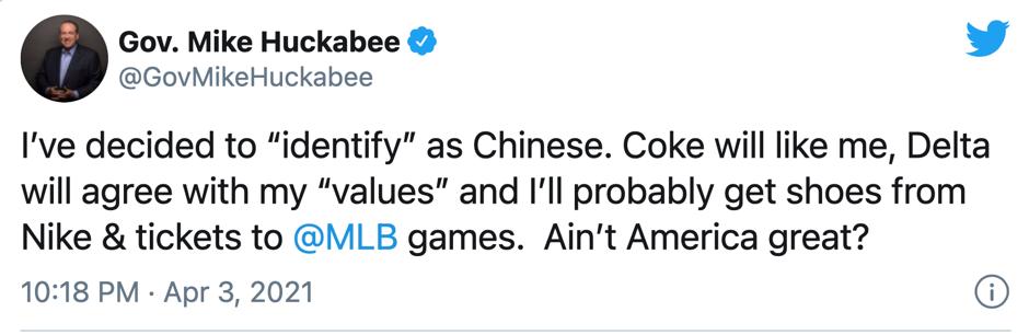 """如此玩笑!美国一前州长声称决定""""认同""""自己是中国人,可以得到好处"""