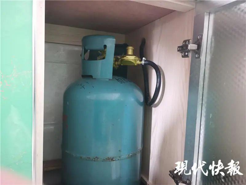 △业主家中的煤气罐