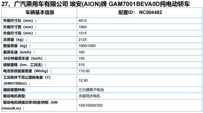 广汽埃安新款AION S曝光动力提升 起售或超16万-图3