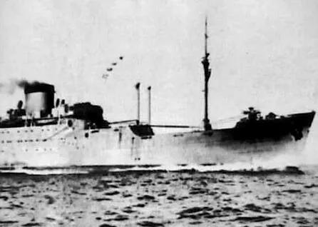 上图_ 阿波丸号是一艘建造于20世纪40年代的日本远洋油轮