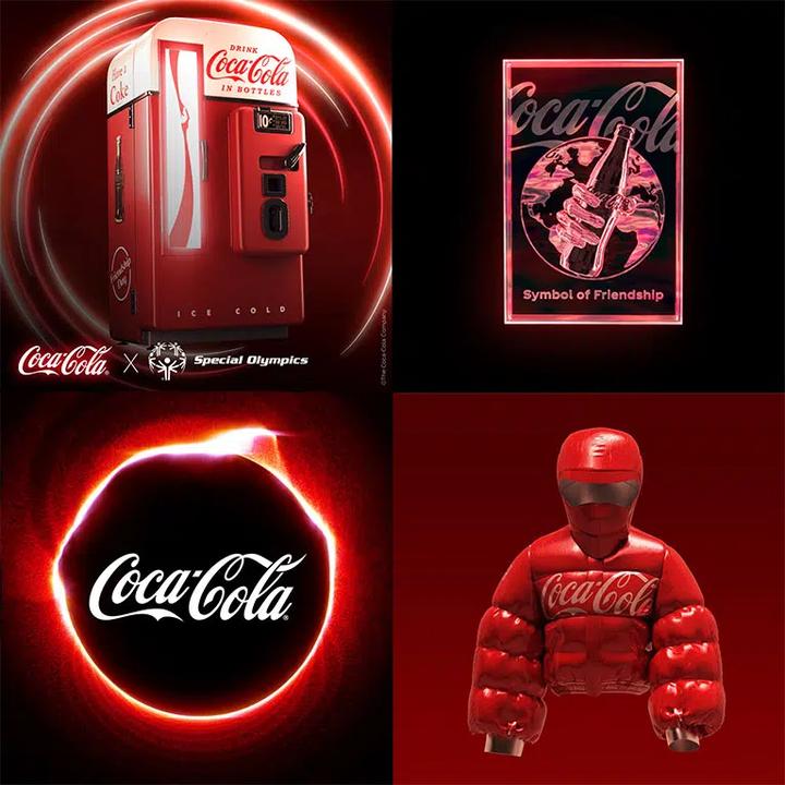 可口可乐的 NFT 周边,其中第三个是「嘶~」的声音
