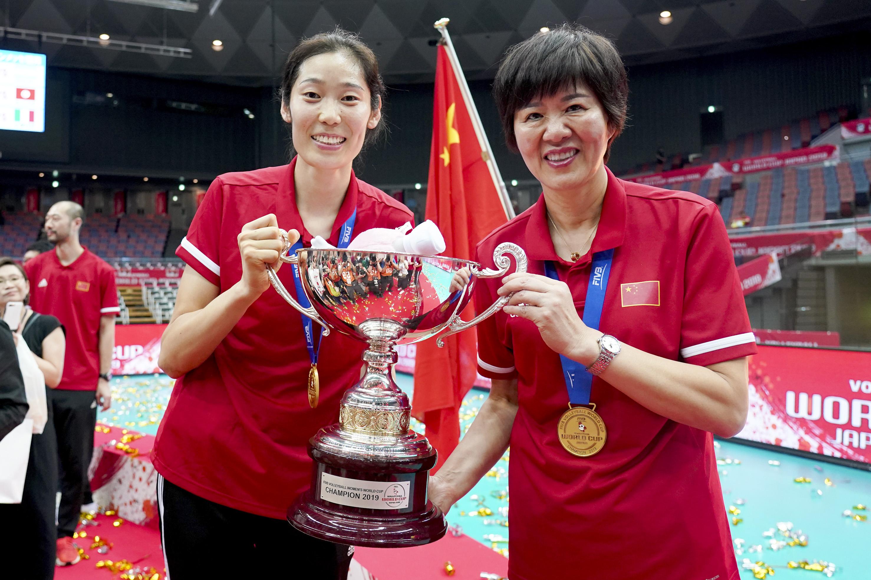 2019年,郎平带领中国女排拿下世界杯冠军。