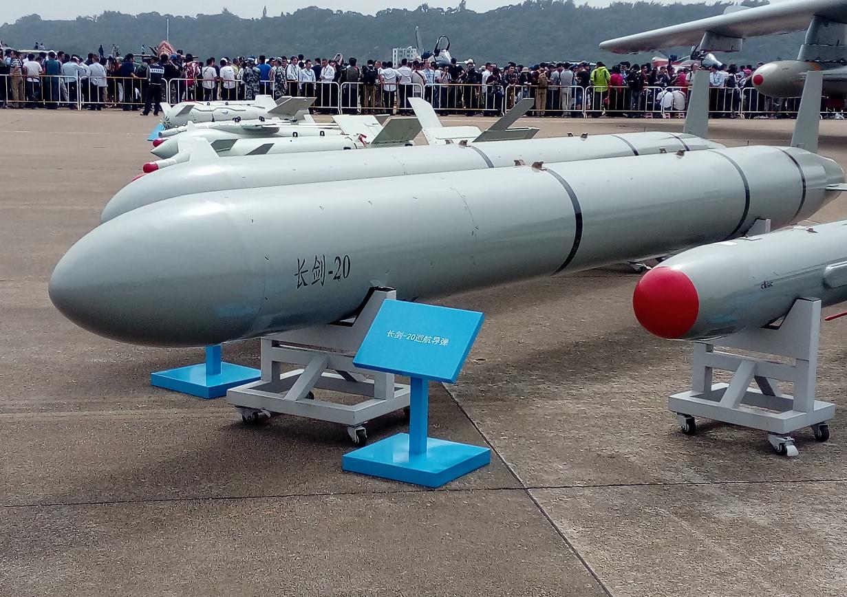 珠海航展上展示的長劍-20導彈。