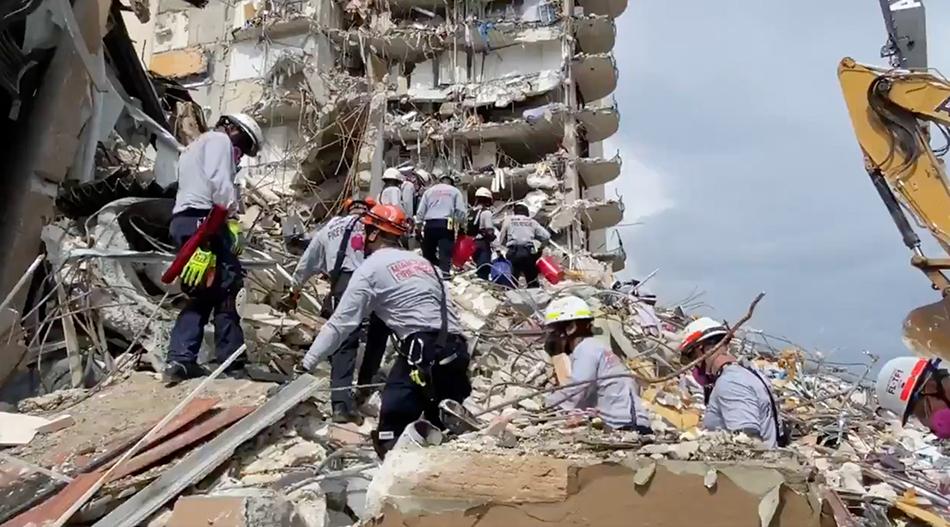 邁阿密倒塌大樓失蹤人員尋找未獲進展,倒塌原因仍是迷