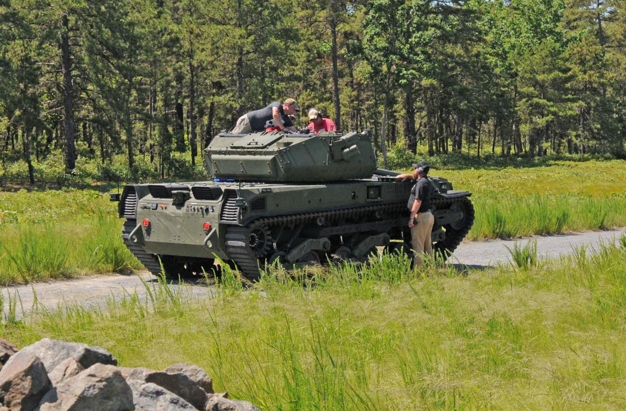RCV-M无人战车测试画面