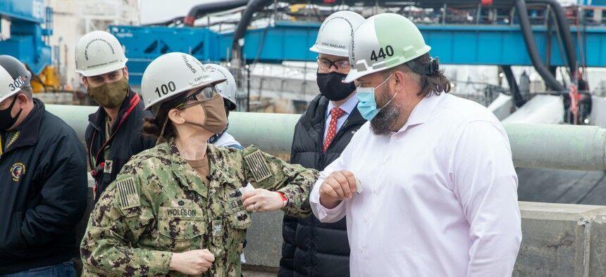 疫情期间的美国诺福克海军造船厂造船厂 资料图