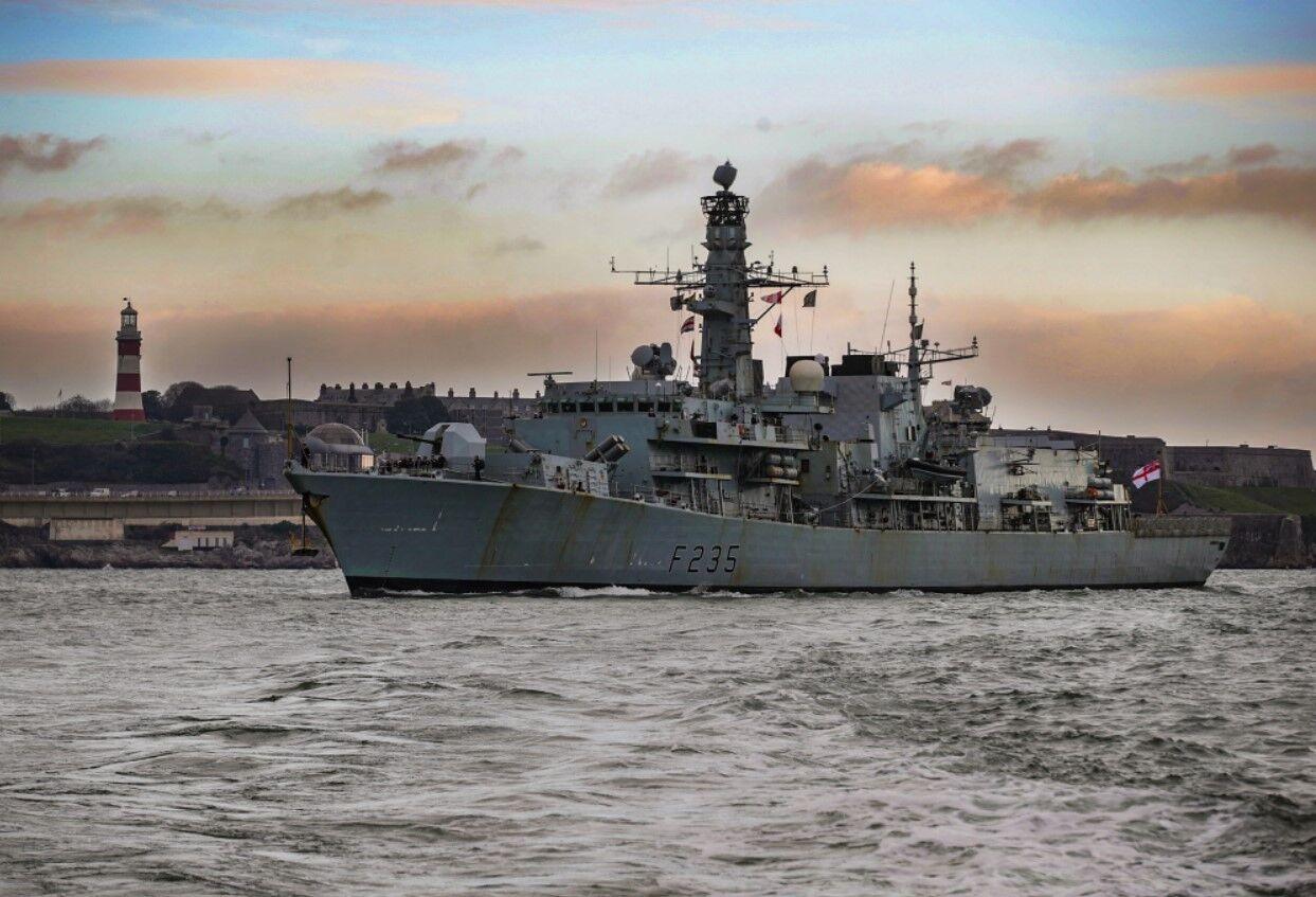"""英国皇家海军""""蒙茅斯""""号导弹护卫舰 资料图"""