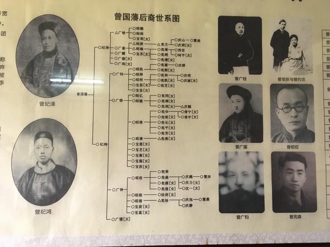 曾国藩后裔关系图
