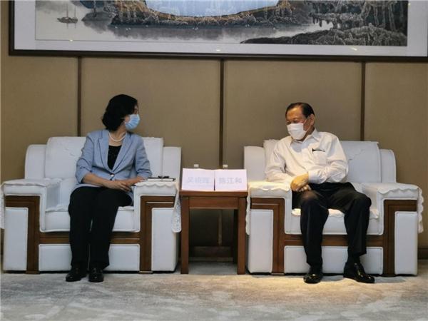新加坡金鹰集团主席陈江和会见江门市长吴晓晖 新加坡金鹰集团