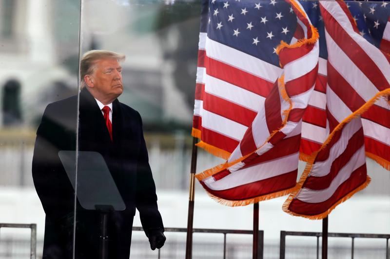 1月6日,特朗普在华盛顿集会上