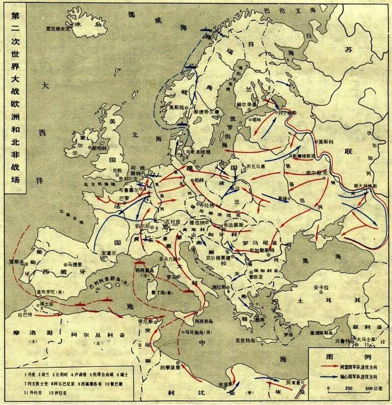 上图_ 第二次世界大战欧洲和北非战场