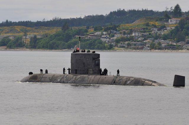 """加拿大皇家海军的""""科纳·布鲁克""""号潜艇 资料图"""